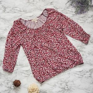 Michael Kors Flower Pattern Blouse